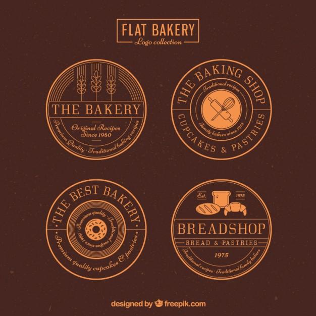 Round Bakery Badges