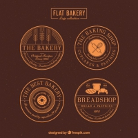Round Bakery Badges