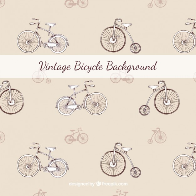 Hand Drawn Beautiful Background Of Bicycle