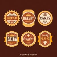 Set Of Six Retro Bike Badges