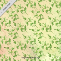 Hand Drawn Watercolor Leaves Pattern