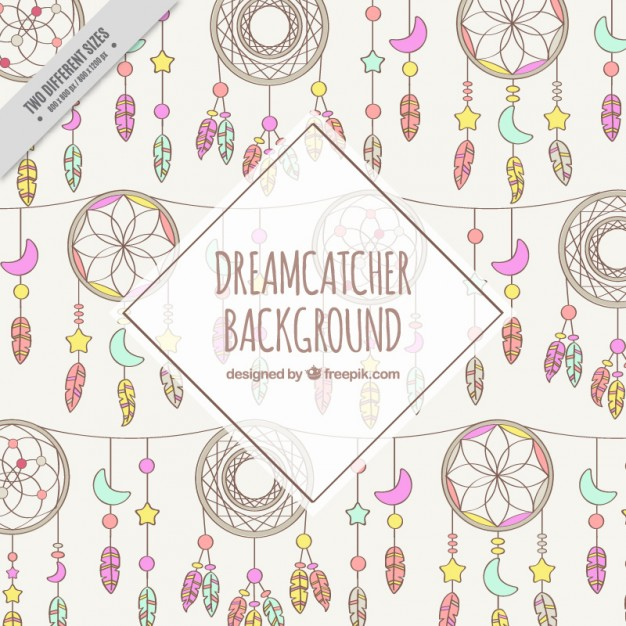 Hand Drawn Dreamcatchers Background