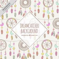 Hand Drawn Dreamcatchers Background