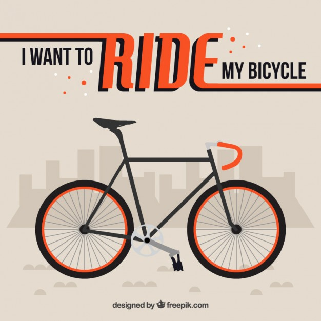 Flat Bike Background With A Phrase