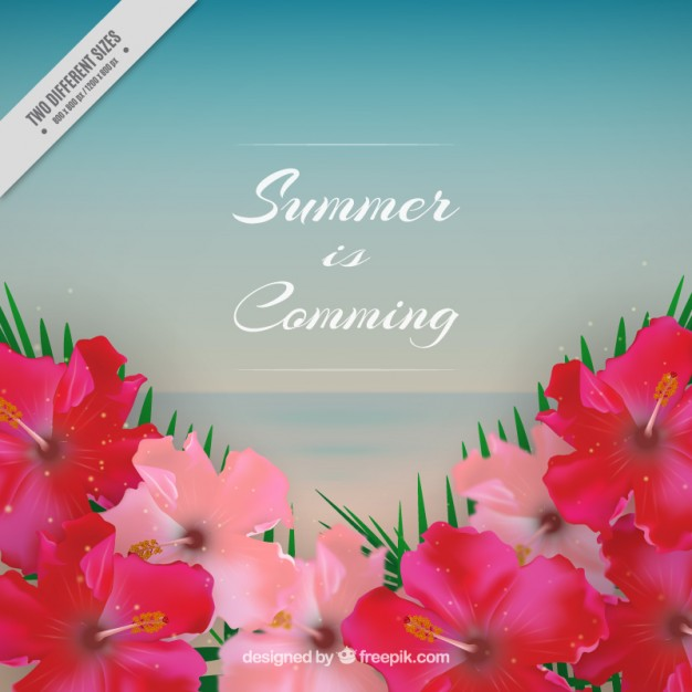 Flowery Summer Background