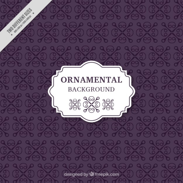 Violet Ornamental Background