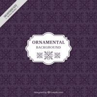 Violet Ornamental Background