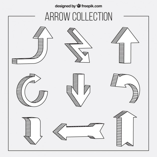 Hand Drawn Different Arrows
