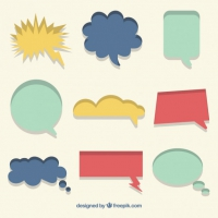 Collection Of Speech Bubble In Colors