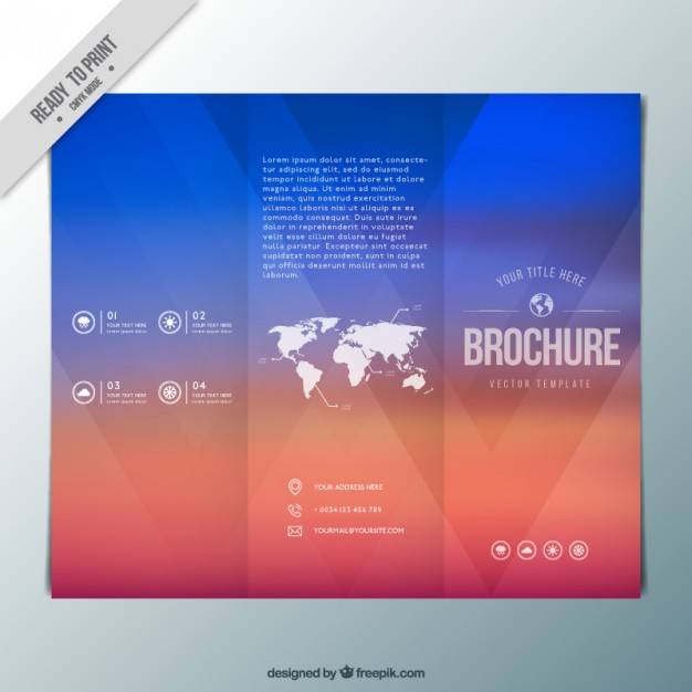 Abstract Colors Trifold With A Map