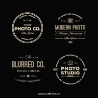 Pack Of Retro Photography Logos