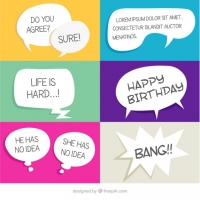 Hand Drawn White Comic Speech Bubbles