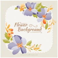 Beautiful Vintage Flowers Background