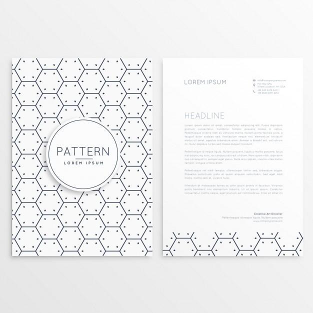 Black Hexagons Letterhead