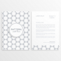 Black Hexagons Letterhead