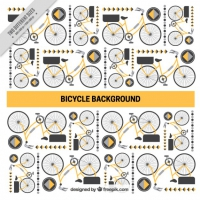 Bike And Abstract Shapes Background