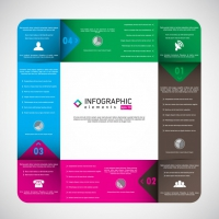Coloured Squared Infographic Template