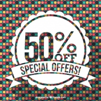 Sale Background With Little Colored Hexagons