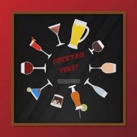 Coloured Cocktails Background