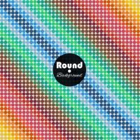 Coloured Rounded Shapes Background