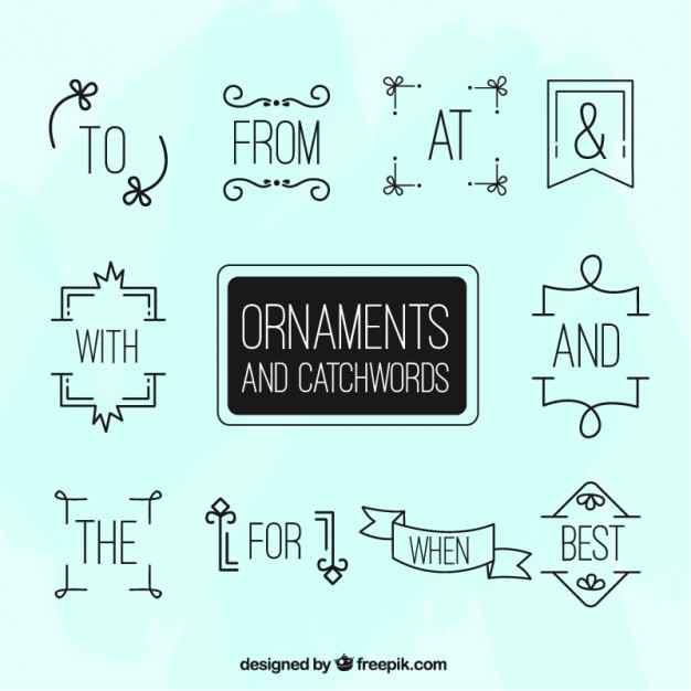 Linear Ornaments And Catchwords Pack
