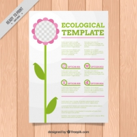 Ecological Flyer With A Cute Flower