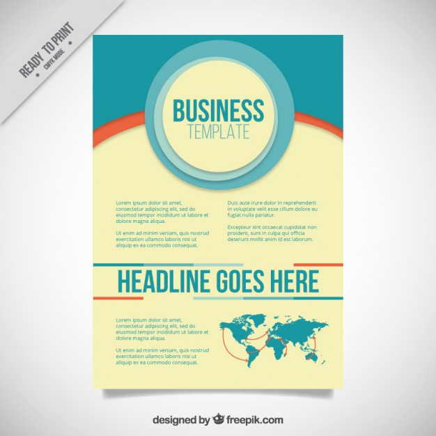 Business Brochure In Vintage Style