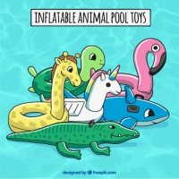 Inflatable Animal Pool Toys