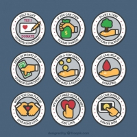 Linear Rounded Charity Badges