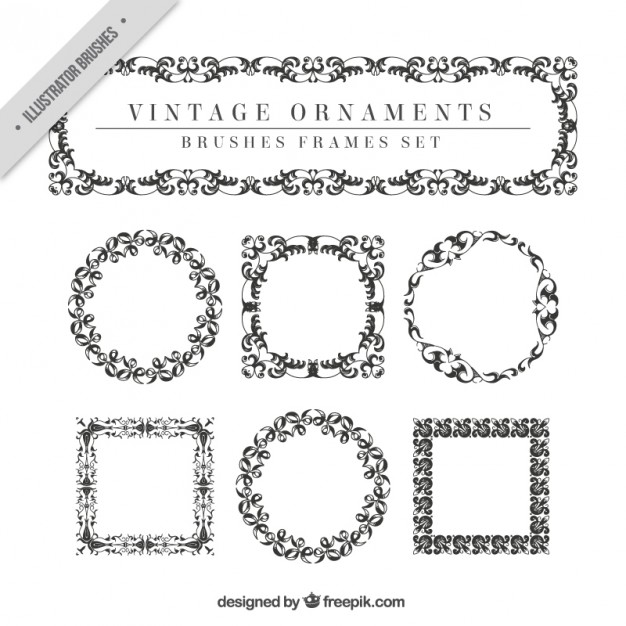 Vintage Ornaments Set