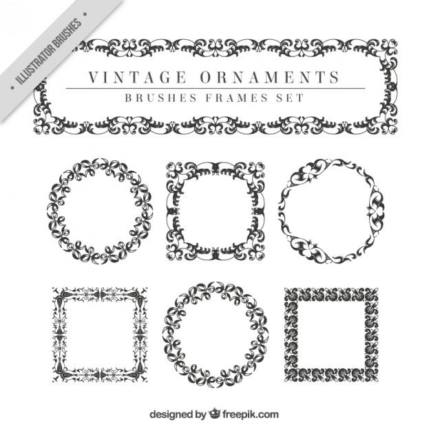 Vintage Ornaments Set