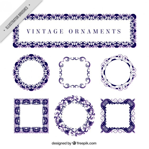 Blue Vintage Ornaments