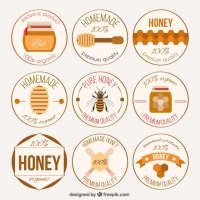 Homemade Honey Badges Collection