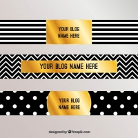 Blog Headers With Stripes