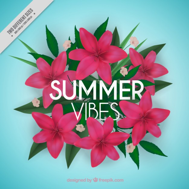 Flowery Summer Background 2