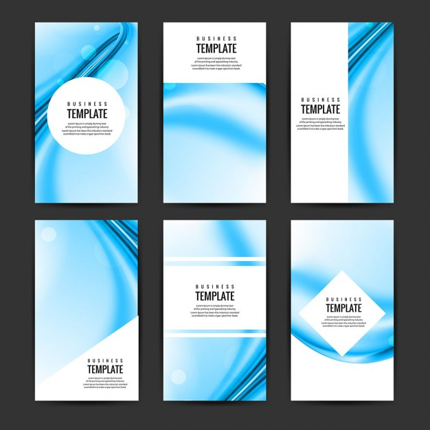 Wavy Blue Brochure Collection