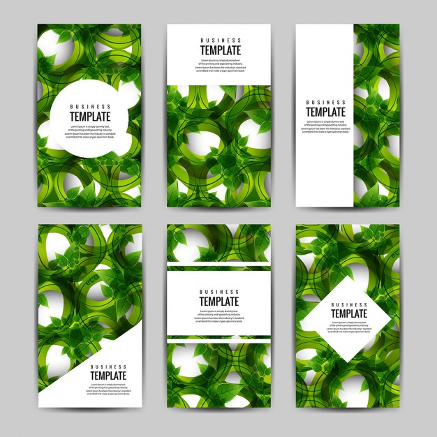 Brochure With Leaves Collection