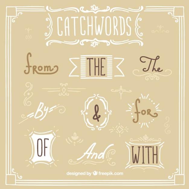 Hand Written Elegant Catchwords
