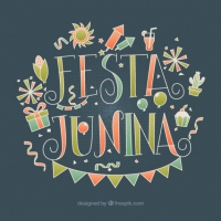 Hand Drawn Festa Junina Elements Vintage Background