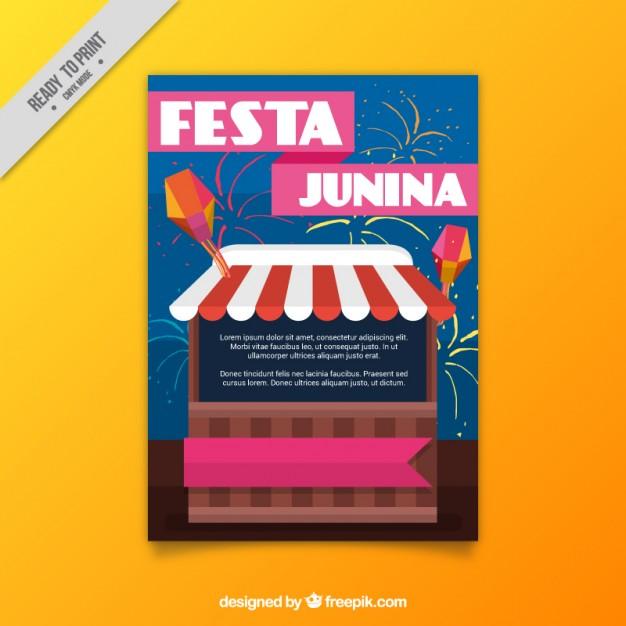 Festa Junina Flyer With Stand