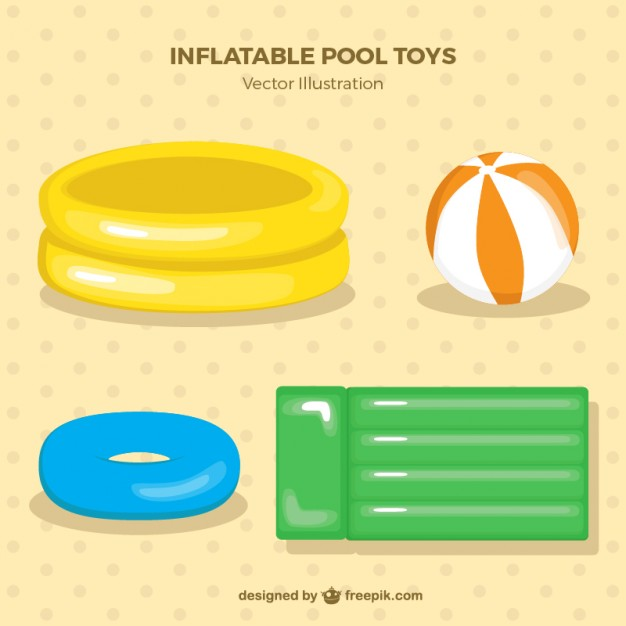 Inflatable Pool Toys Pack In Soft Colors