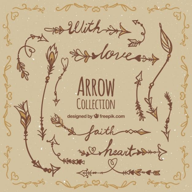Hand Drawn Boho Arrow Collection