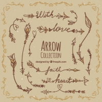 Hand Drawn Boho Arrow Collection