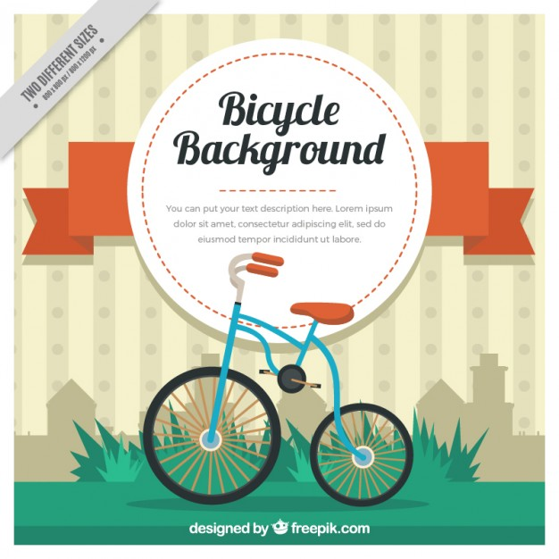 Cute Bicycle Vintage Background