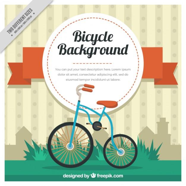 Cute Bicycle Vintage Background