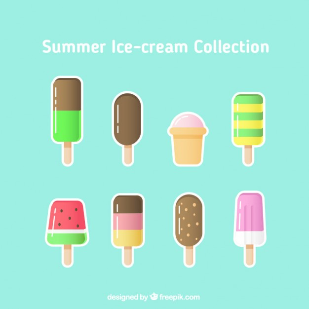 Variety Of Cute Ice-Cream Labels