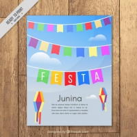 Brochure Of Festa Junina With Decoration
