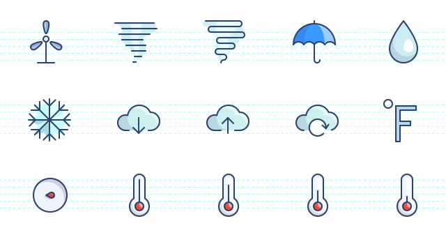 The Color Icons Set : Weather