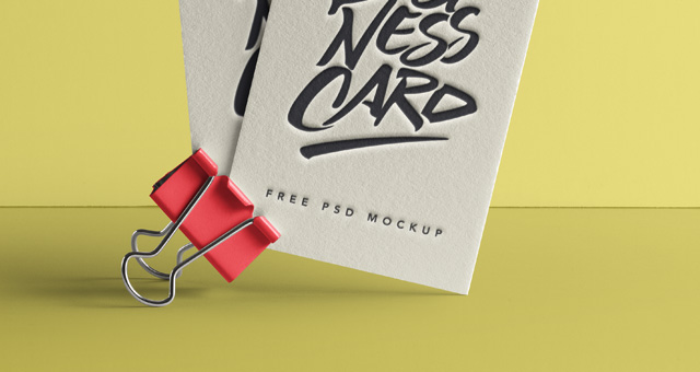 Psd Business Card Mock-Up Vol40