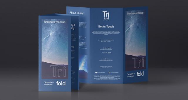 Psd Tri Fold Mockup US A4 Vol4